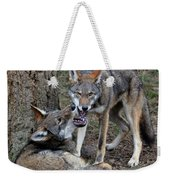 Playful Wolves Weekender Tote Bag