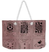 Playing Cards Patent Red Weekender Tote Bag