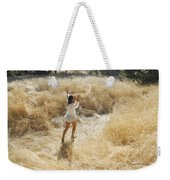 Playing In The Grass Weekender Tote Bag