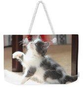 Playing Kitten Weekender Tote Bag