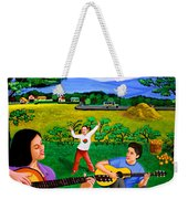 Playing Melodies Under The Shade Of Trees Weekender Tote Bag