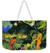 Playing Nudes Under Trees Weekender Tote Bag