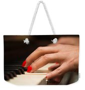 Playing The Piano Weekender Tote Bag