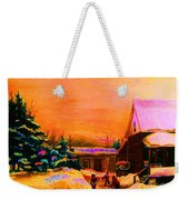 Playing Until The Sun Sets Weekender Tote Bag