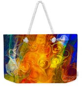 Playing With Bubbles Textured Abstract Artwork By Omaste Witkows Weekender Tote Bag by Omaste Witkowski