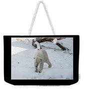 Playing With Snow Weekender Tote Bag
