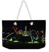 Plaza Fountain Weekender Tote Bag