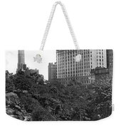 Plaza Hotel From Central Park Weekender Tote Bag