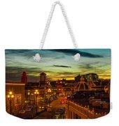 Plaza Lights At Sunset Weekender Tote Bag