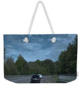 Pleasure Drive Paris Roads Tree Line And Wonderful Skyview Weekender Tote Bag