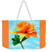 Pleasure - Yellow Double Hibiscus Weekender Tote Bag
