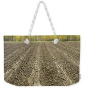 Plowed Spring Farmland Ready For Planting In Maine Weekender Tote Bag
