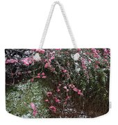 Plum Blossom In The Snow Weekender Tote Bag