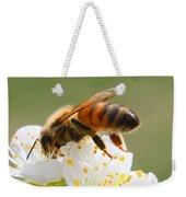 Plum Full Of Bees Weekender Tote Bag
