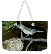 Plumbeous Vireo With Four Chicks In Nest Weekender Tote Bag