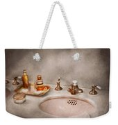 Plumber - First Thing In The Morning Weekender Tote Bag