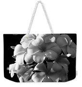 Plumeria Black White Weekender Tote Bag