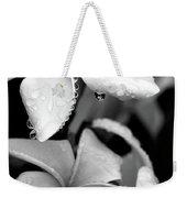 Plumeria Drip Weekender Tote Bag