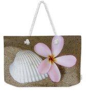 Plumeria Flower And Sea Shell Weekender Tote Bag