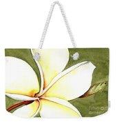 Plumeria Flower Weekender Tote Bag