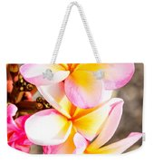 Plumerias Of Paradise 4 Weekender Tote Bag