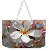 Plumerias Under A Blue Sky Weekender Tote Bag