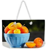 Plums In Bowl Weekender Tote Bag