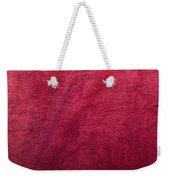Plush Red Texture Weekender Tote Bag