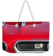 Plymouth Barracuda Grille Emblem Weekender Tote Bag