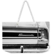 Plymouth Barracuda Taillight Emblem -0711bw Weekender Tote Bag