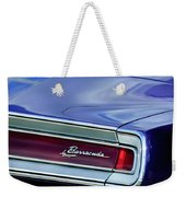 Plymouth Barracuda Taillight Emblem Weekender Tote Bag
