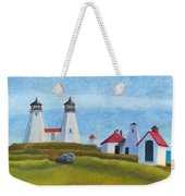 Plymouth Light Station Before 1924 Weekender Tote Bag