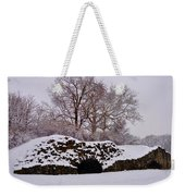 Plymouth Meeting Lime Kilns In The Snow Weekender Tote Bag