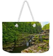 Poconos Ledges Waterfall Weekender Tote Bag