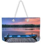 Poconos Lake Whitney Sunset Rowboat Weekender Tote Bag