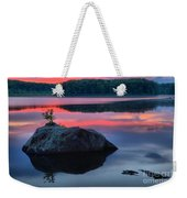 Poconos Lake Whitney Sunset Silhouette Weekender Tote Bag