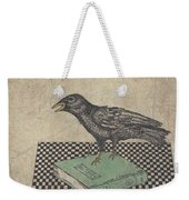 Poe And The Crow Weekender Tote Bag