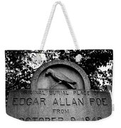 Poe's Original Burial Place Weekender Tote Bag