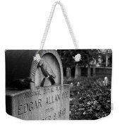 Poe's Original Grave Weekender Tote Bag by Jennifer Ancker