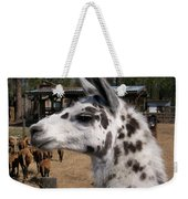 Polka Dot Llama Pogo Rules Weekender Tote Bag