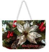 Poinsetta Christmas Card Weekender Tote Bag
