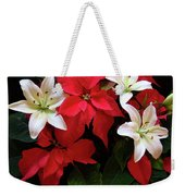 Poinsettia And Lilies Weekender Tote Bag