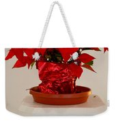 Poinsettia On A Pedestal No 1 Weekender Tote Bag