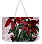 Poinsettias Expressive Brushstrokes Weekender Tote Bag