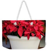 Poinsettias In A Planter Weekender Tote Bag