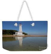 Point Abino Lighthouse Reflection Weekender Tote Bag