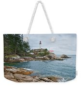 Point Atkinson Lighthouse And Rocky Shore Weekender Tote Bag