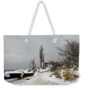 Point Betsie In Winter Weekender Tote Bag