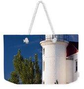 Point Betsie Lighthouse Michigan Weekender Tote Bag