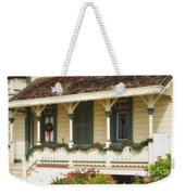Point Fermin Lighthouse Christmas Porch Weekender Tote Bag